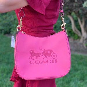 💕 COACH Jes Pink Leather Hobo Bag 💕